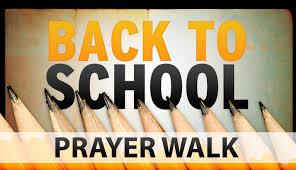 back to school prayer walk